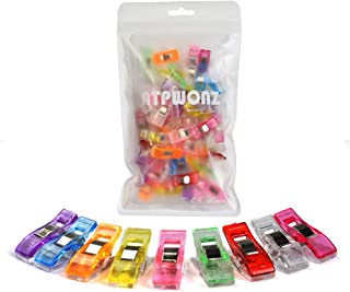 ATPWONZ 60pcs Clips de Ostura - Craft Clips Milagro Multicolor Abrazadera Plástico Perfecto para Bordado/Costura/Ganchillo,etc (Color Mezclado)