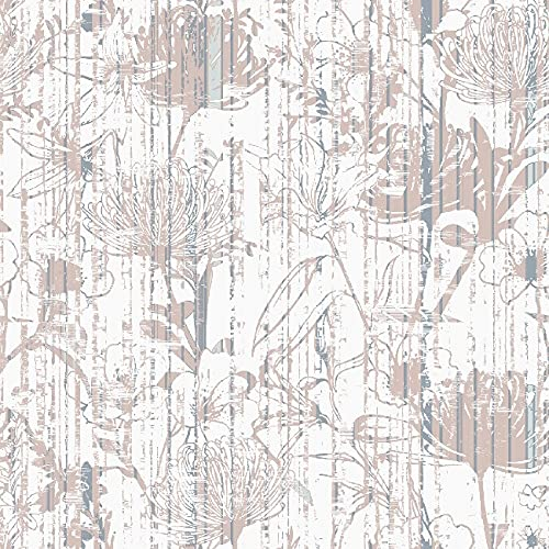 Homemania - Tappeto con stampa floreale, decorazione per la casa, antiscivolo, per soggiorno, camera da letto, multicolore, in poliestere, cotone, 80 x 50 cm