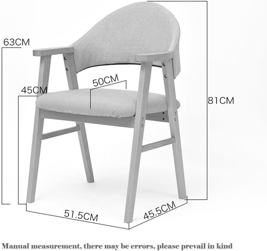 HXF- Chaise d'étude en Bois Massif Dossier Simple Chaise de Bureau accoudoir Occasionnel Chaise Moderne Chaise de Salle à Manger for Adultes Durable (Color : B) D