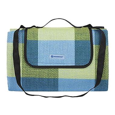 SONGMICS Picnic Blanket Waterproof Beach Camping Outdoor Blanket Mat 77  x 59  UGCM50C