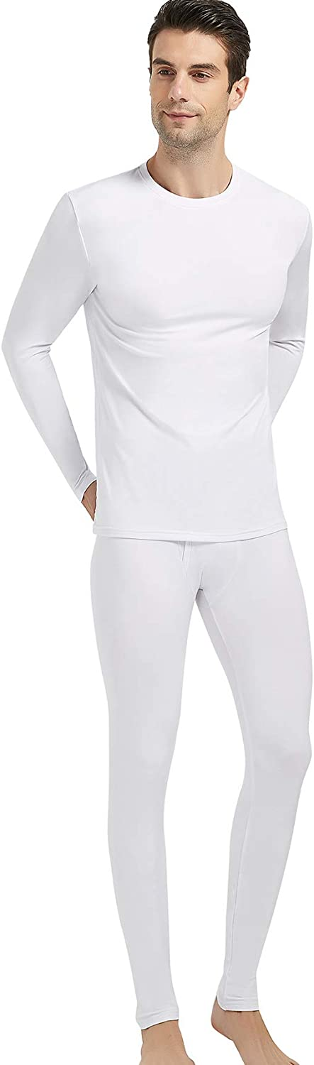 Starlemon Thermal Underwear for Men Ultra Soft Fleece Lined Thermal Winter Base Layers Long Johns Set