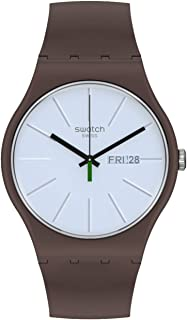 Swatch Unisex_Adult Quartz bio-sourced Material Strap, Brown, 18 Casual Watch (Model: SO29M701)