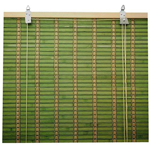 cortinas y estores verde