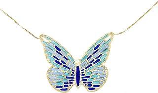 Lucchetta - Catenina Oro Giallo con Farfalla Blu - XS1947