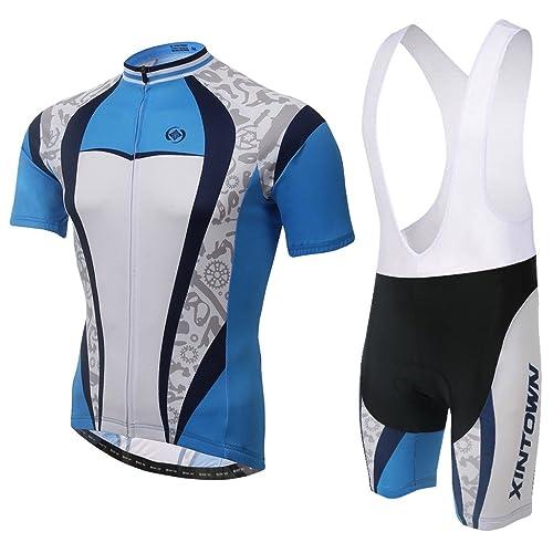 SKYSPER Men Comfortable Stylish Cycling Clothing Set Short Sleeve Cycling Jersey Cycling Pants