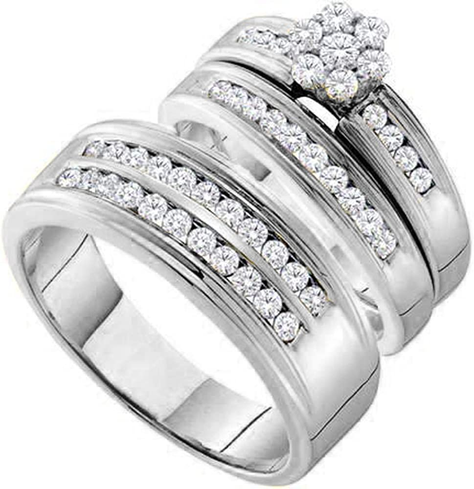 0.95 Carat ctw 14K online shop Gold Round Women's Cluste Cut Diamond Popular shop is the lowest price challenge Men