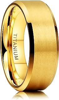 خاتم تايجريد من التيتانيوم 4 مم 6 مم 8 مم 10 مم خاتم زفاف في راحة تناسب الرجال النساء الحجم 3-15