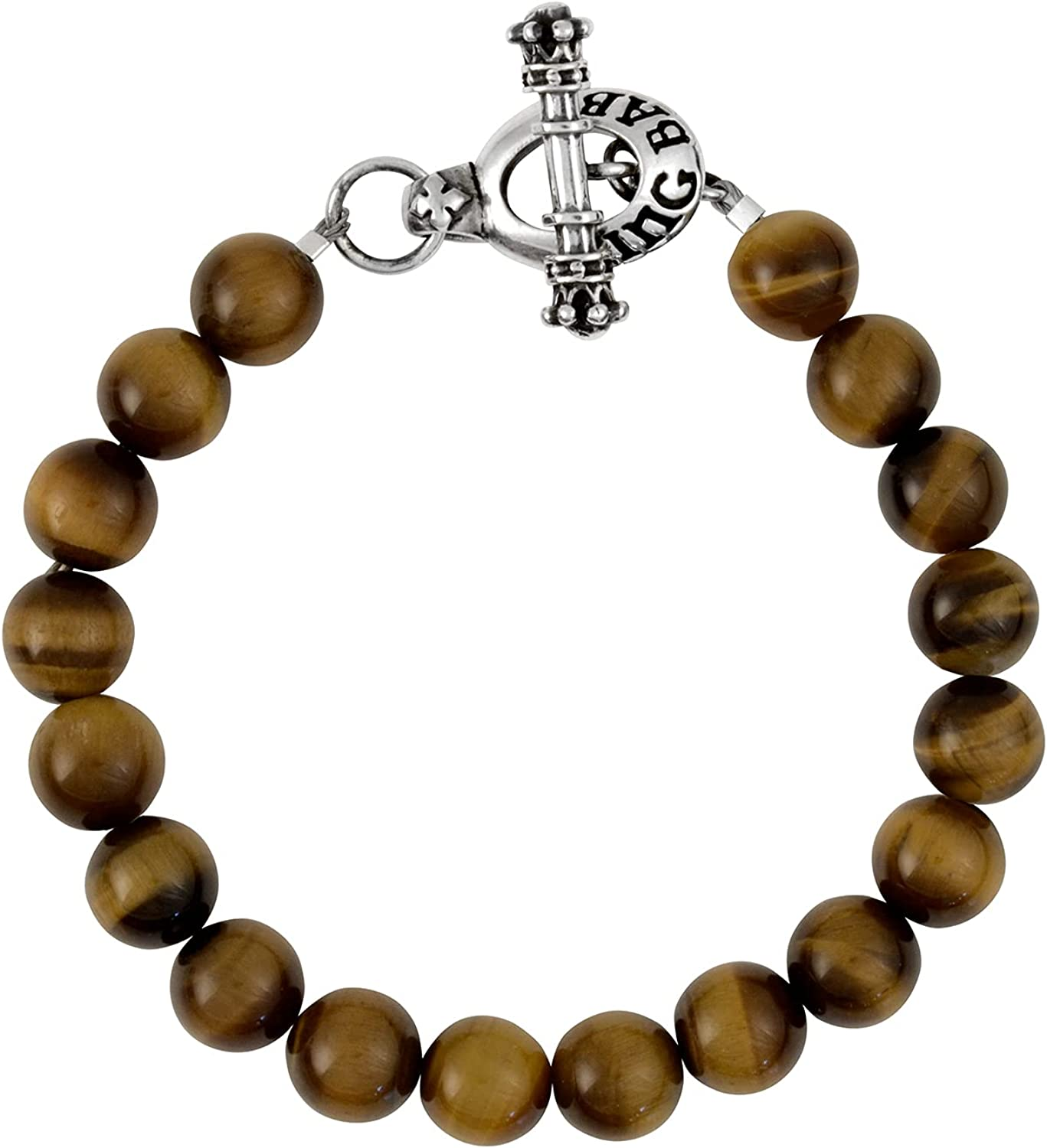 King Baby .925 Sterling Silver Natural Award Ranking TOP1 Beade 10mm Stone 8mm or