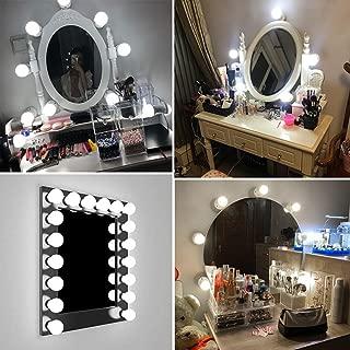 AOOGPLRUM 6/10/14pcs USB Kit com Dimmable Lâmpadas LED Vanity Luzes do Espelho para Maquiagem Vaidade Mesa dispositivo (6pcs)