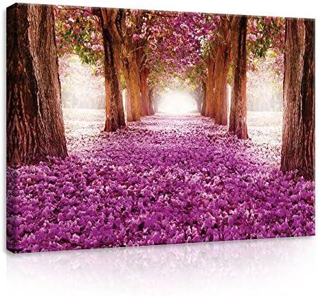 Leinwandbild Canvas Print Wandbild Lila Magnolien Blumen Nr 4934
