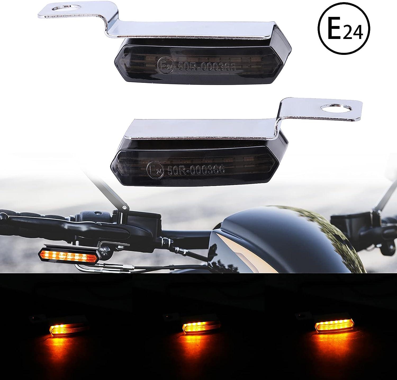 JMTBNO Intermitentes Moto Mini Luz de Señal de Giro Indicador de Motocicleta LED que Fluye Luces Lámpara Impermeable Homologados Universal para Motocicleta Scooter Cafe Racer
