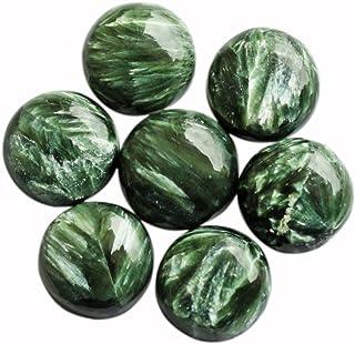 Cabujón de seraphinita de forma redonda natural de 21 mm AAA+, piedra preciosa para hacer joyas, proveedores de piedra SN ...