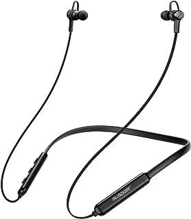 Ausdom in-Ear Earbuds Bluetooth Headphones with Microphone Waterproof Neckband Sports Earphones (Black)