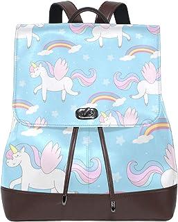 FANTAZIO Mochila de Viaje con diseño de Unicornio y Estrellas de arcoíris