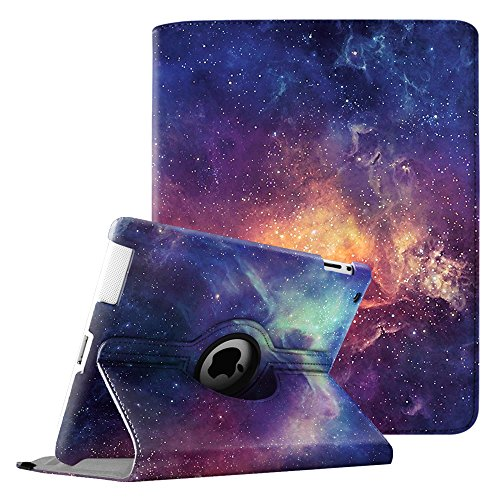 Fintie Hülle für iPad 2 / iPad 3/ iPad 4, 360 Grad verstellbare Schutzhülle Cover mit Standfunktion, Auto Sleep/Wake für iPad mit Retina Display (iPad 4. Generation), iPad 3 & iPad 2, Die Galaxie