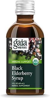Gaia Herbs, Black Elderberry Syrup, Daily Immune Support with Antioxidants, Organic Sambucus Elderberry Supplement, 3 Ounce