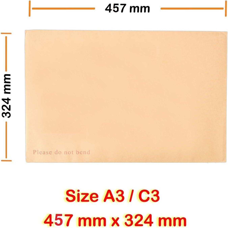 Arpan Lot de 10 enveloppes /à dos rigide Manille A3 C3 457 mm x 324 mm
