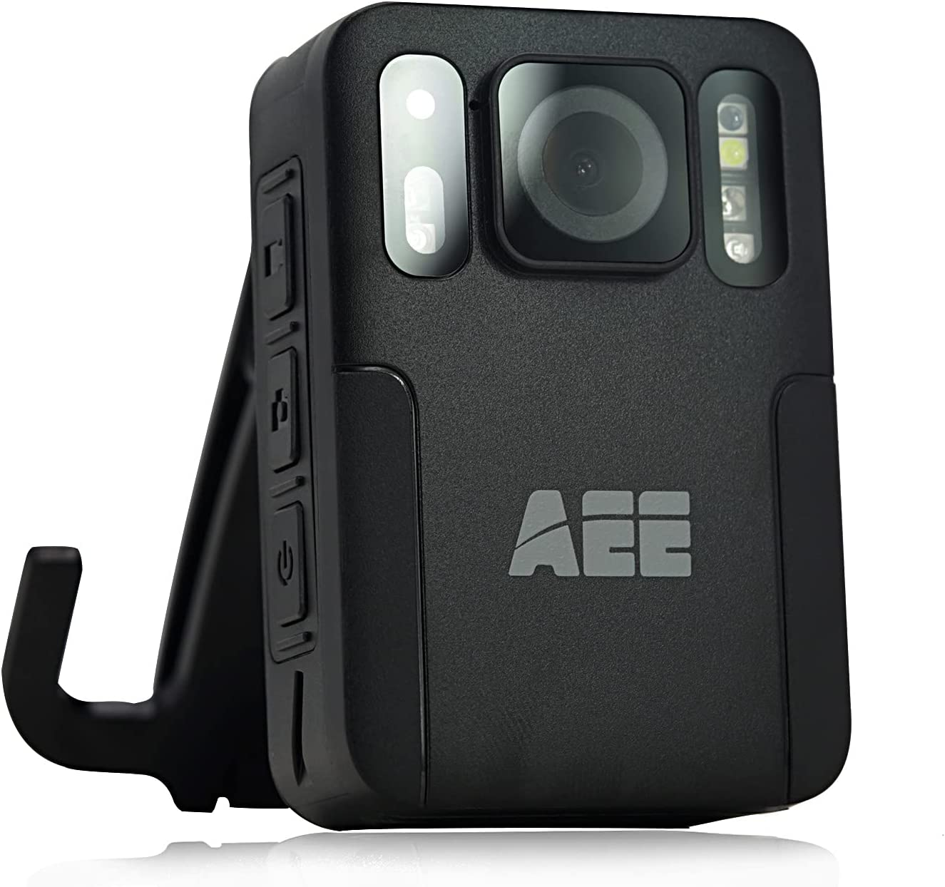 AEE M16 Body Worn Camera with Audio Recording Wearable 1080P HD Police Body Mounted Camera for Law Enforcement, Max 128GB, 48MP Lightweight and Portable Body Cameras with Compact Design