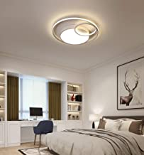 Giow Modern dimmable LED Ceiling Light Rings Bedroom lamp Creative Art Round Design Ceiling lamp with Remote Control Acrylic Shadow Living Room Studio Kitchen Balcony Nursery Lighting,&Oslas