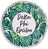 Sorority Shop Delta Phi Epsilon - Palm Leaf - Fringe Towel - Blanket