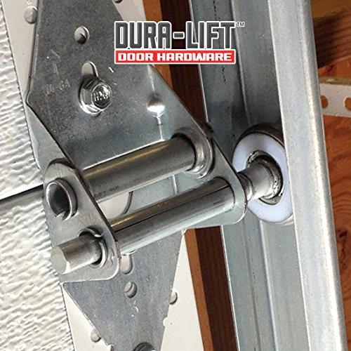"DURA-LIFT Ultra-Life 2"" Reinforced 6200Z Bearing Nylon Garage Door Roller and 4"" Stem (10 Pack)"