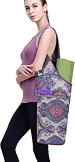 ELENTURE Yoga Mat Bag Tote Sling Carrier with Yoga Mat Strap and Large Size Pocket and Zipper Pocket, Fit Most Size Mats