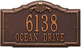 Comfort House Address Plaque - Decorative Metal Address Sign Personalized with Your House Number and Street Name P2887wall