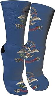 靴下 抗菌防臭 ソックス ノースダコタ州フラッグアスレチックスポーツソックス、旅行&フライトソックス、塗装アートファニーソックス30センチメートル長い靴下