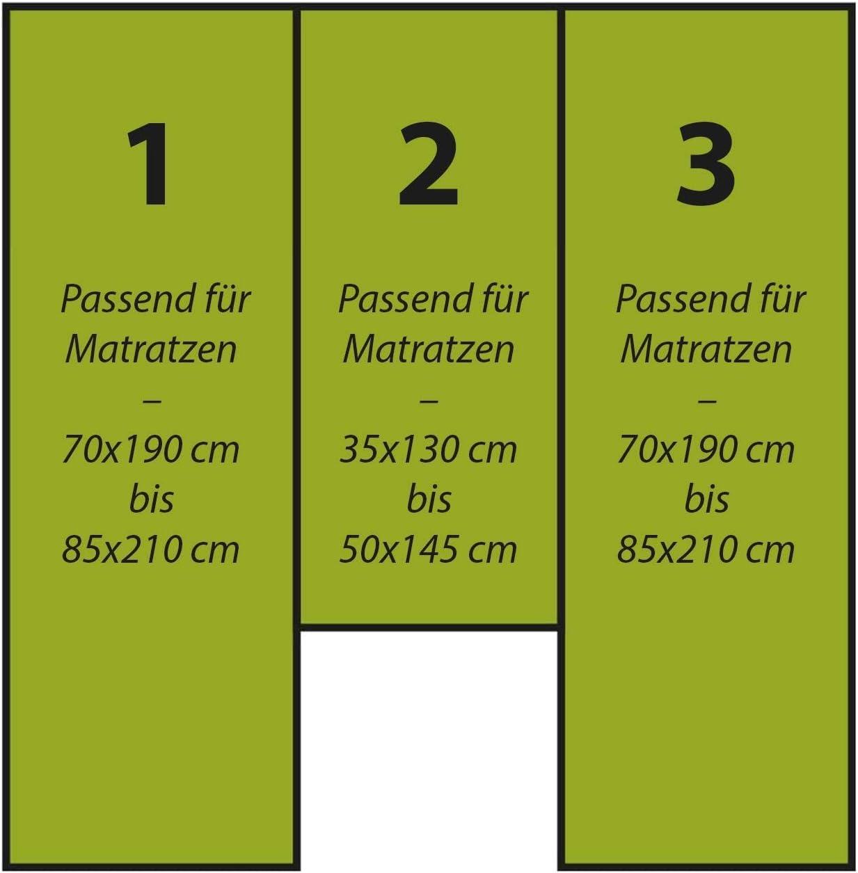 G Bettwarenshop Wohnmobil Wohnwagen Heckbett Spannbetttuch Set 3 Teilig Hellblau 2 Längsbetten Mittelteil Küche Haushalt
