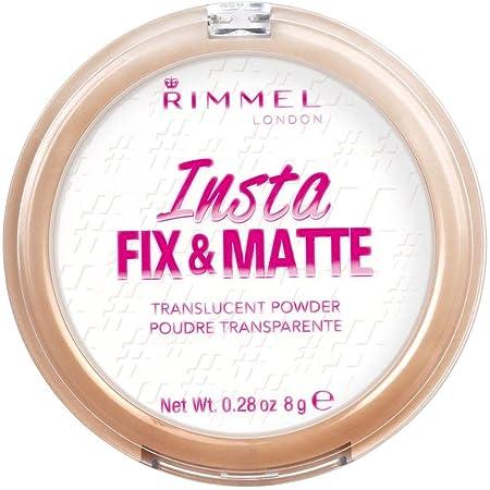 Rimmel London Cipria Trasparente Compatta Fix&Matte, Formula Opacizzante e Fissante, 8 g