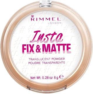Rimmel Insta Fix & Matte Pressed Powder, Translucent, 8 g