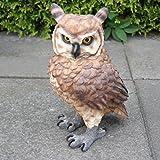 Eule Figur Uhu Kauz Vogel Tierfigur Gartendeko Dekoration Gartenfigur Dekofigur