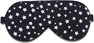 Alaska Bear Natural Silk Sleep Mask Hypoallergenic Super Smooth Eye Mask for Sensitive Skin (Black Constellation)