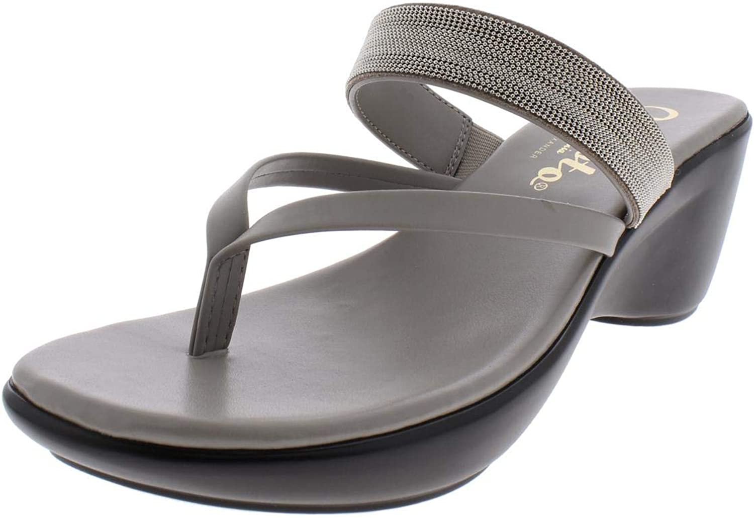 Callisto of California Womens Elora Faux Leather Thong Flip-Flops