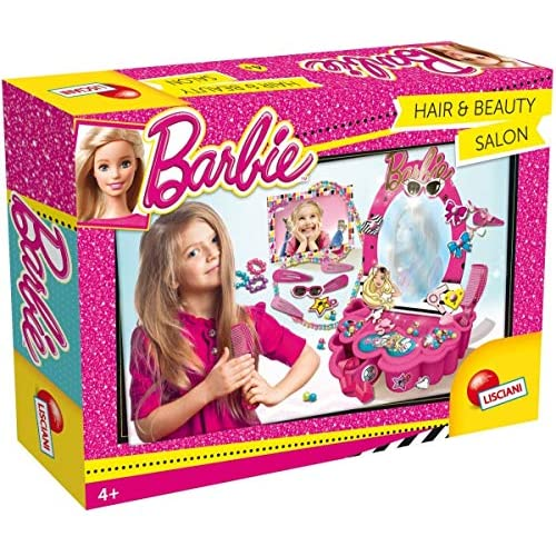 Lisciani Giochi- Barbie Hair And Beauty Salon Kit Creativo, Multicolore, 55975