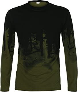 T-Shirts for Men, Sweater Gradient Long Sleeve Muscle Solid Blouse Shirt