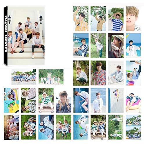 LLGL-EU 30 Pack Photocard/Fotokarten/Postkarte/Poster | Jungkook, Jimin, V, Suga, Jin, J-Hope, Rap Monster Bantanboys Band Members Fanartikel | Sammlung und Beste Geschenk für The Armee (No.08)