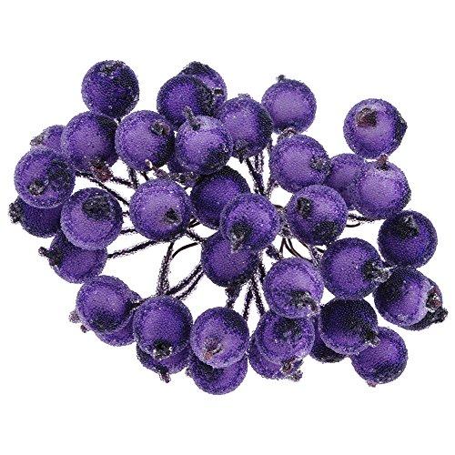 Mini Weihnachten Dekoration Künstliche Frucht Beere Holly Blumen Wie Echt 6 Farben Lila