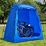 EighteenTek Bike Storage Shed Tent Waterproof Portable Backyard Outdoor Bicycle Yard Stash Shelter Space Saving for Garden Pool Patio 75'x43'x74'H Patent Pending