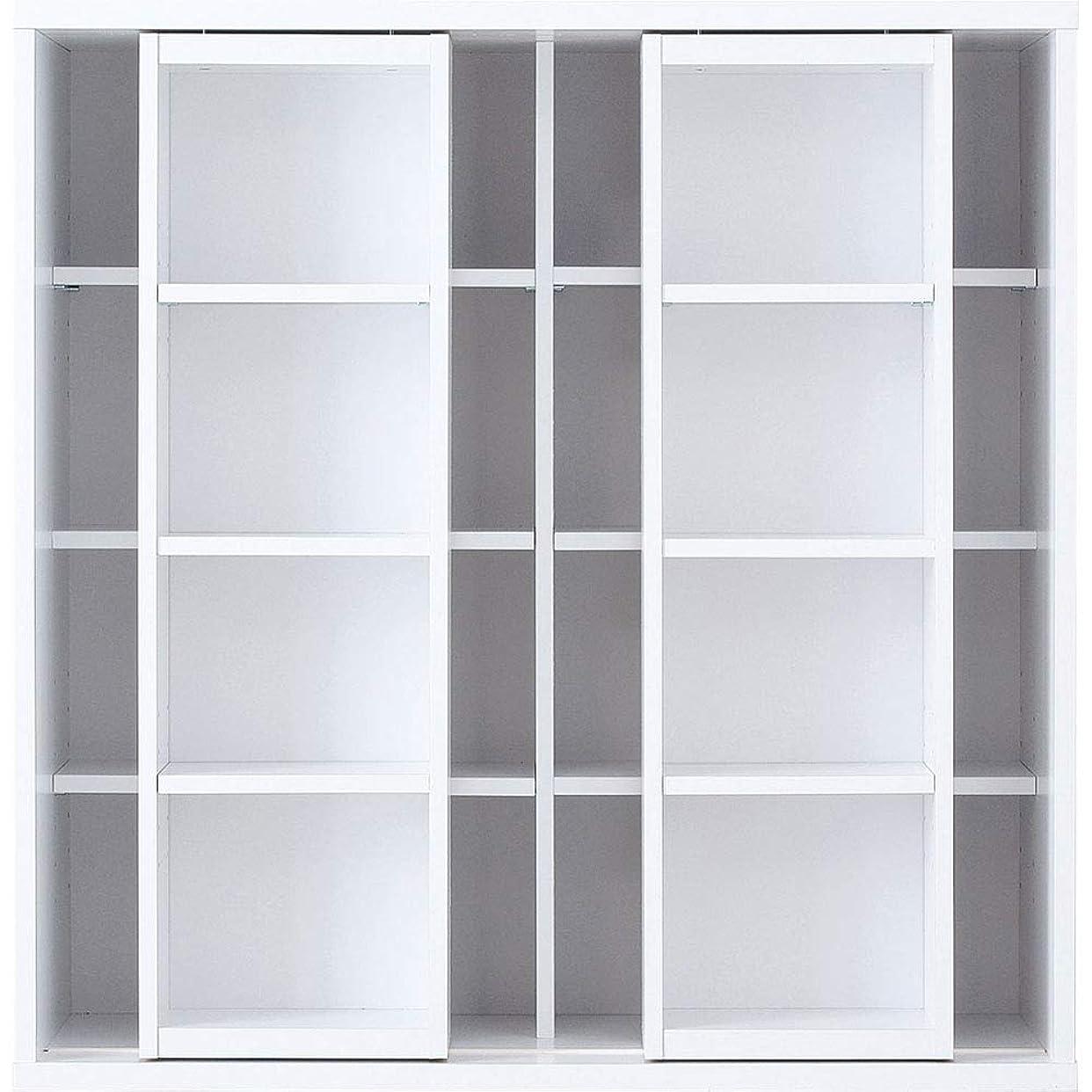 シャー差数ワイエムワールド 本棚 ダブルスライド式 スライド書棚 コミックラック 【色: ホワイト】