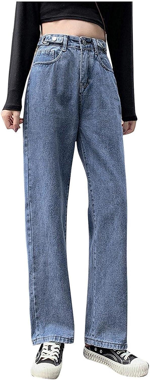Bosanter Y2K Fashion Jeans for Women High Waisted Wide Leg Jeans Trendy Denim Pants Trousers Teens Jeans Streetwear