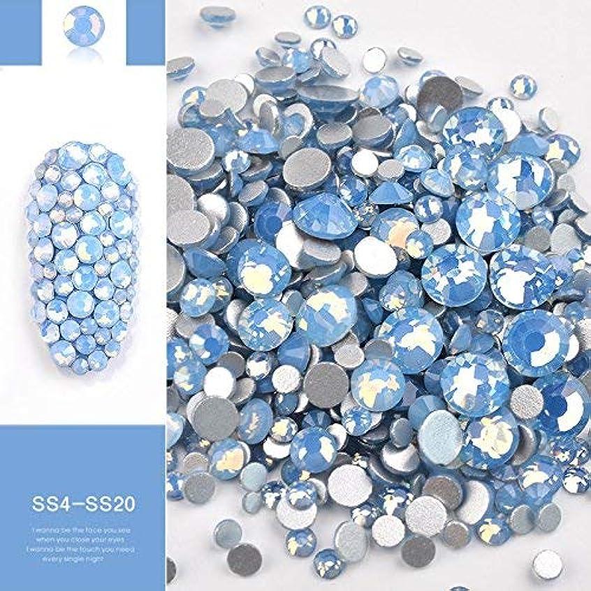 建物月泳ぐミックスオパールクリスタルネイルアートラインストーン3D魅力ガラスDIYジュエリーステッカーの装飾