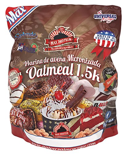 Max Protein Oatmeal Harina De Avena, Donut, One size, Vanilla, 1500 Gramo