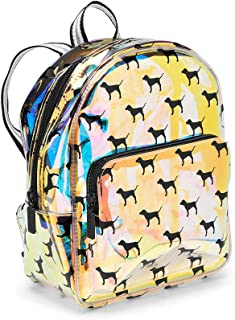 Pink Mini Clear Iridescent Backpack All Over Dogs Puppies