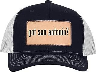 got san Antonio? - Leather Light Brown Patch Engraved Trucker Hat