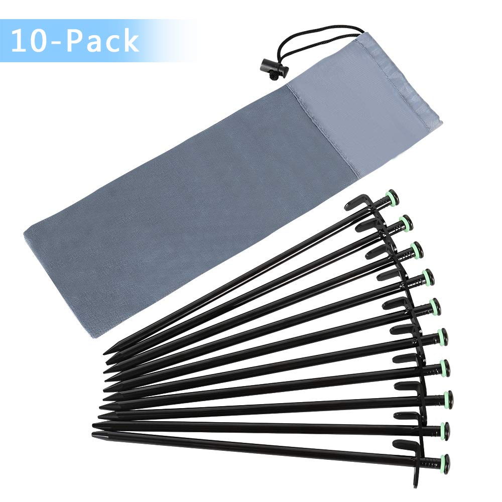 10Pcs Heavy Duty Aluminum Tent Canopy Camping Hiking Stakes Pegs Ground Nail US