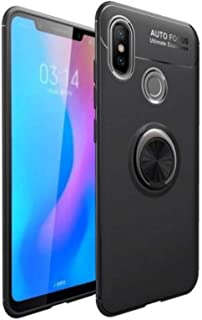 huawei y9 2019 Smooth Auto Focus Case Cover with Metal Ring - Black