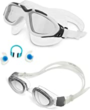 Dolfino Pro Combination Goggle Set Includes 1 Stratus and 1 Visionist 1 1 Swim, Clear/Blue and Clear/Smoke