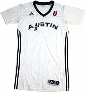 adidas Austin Spurs NBADL White NBA D-League Authentic On-Court Team Issued Pro Cut Jersey Jersey for Men