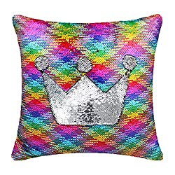 Top 10 Teacher Supplies: multicolored sequence pillow that changes color to silver when sequence are manipulated